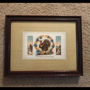 "Other - Framed postcard ""Happy Thanksgiving"""